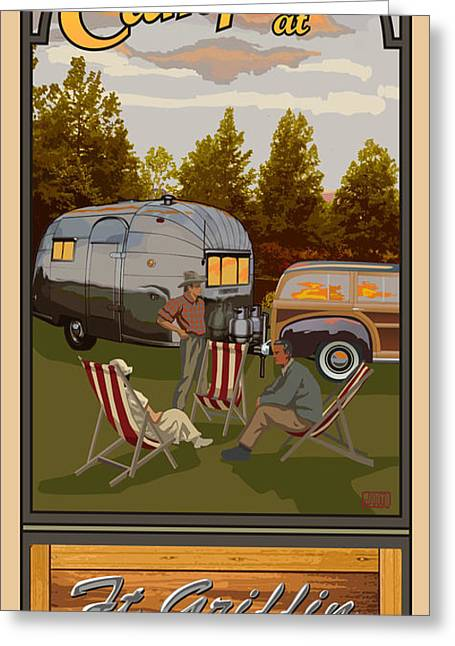 Rv Greeting Cards - Camping Ft Griffin RV Park Greeting Card by Jim Sanders