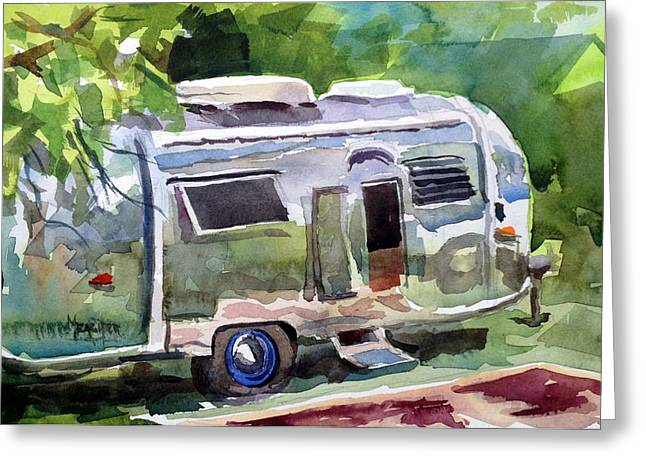 Spencer Meagher Greeting Cards - Camping In Style Greeting Card by Spencer Meagher
