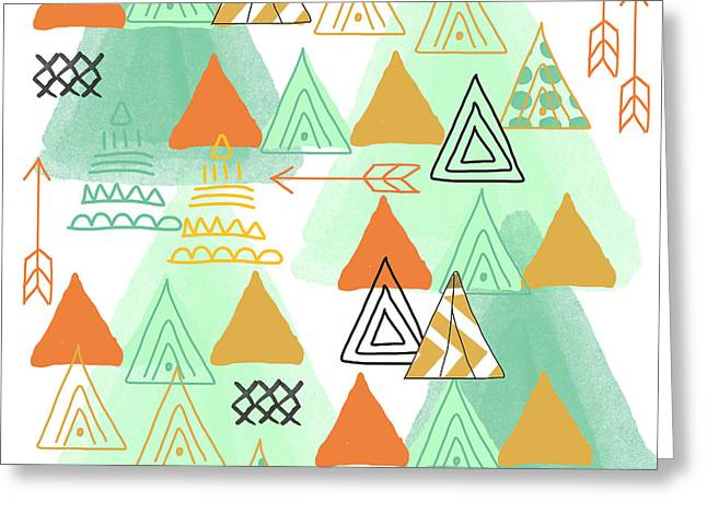 Tent Greeting Cards - Camping Greeting Card by Linda Woods