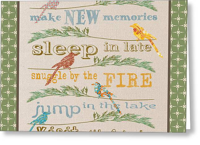Flour Greeting Cards - Camping Rules-B Greeting Card by Jean Plout