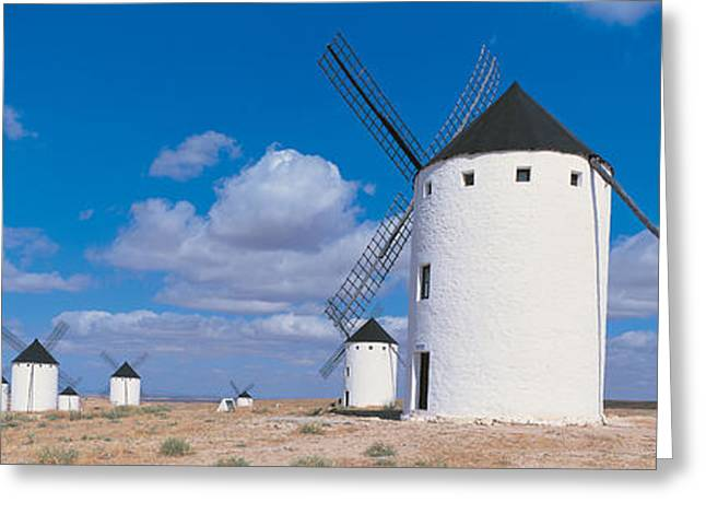 Campo Greeting Cards - Campo De Criptana La Mancha Spain Greeting Card by Panoramic Images