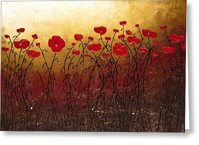 Poppies Greeting Cards - Campo Florido Greeting Card by Carmen Guedez