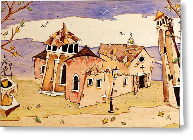 Illustrati Greeting Cards - Campo San Giacomo dellOrio Venecia Greeting Card by Arte Venezia