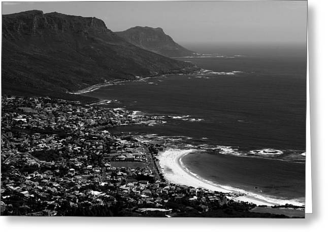 Best Sellers -  - Surf City Greeting Cards - Camps Bay Cape Town Greeting Card by Aidan Moran