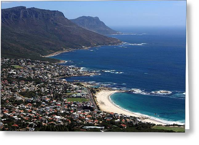Cape Town Greeting Cards - Camps Bay View Greeting Card by Aidan Moran