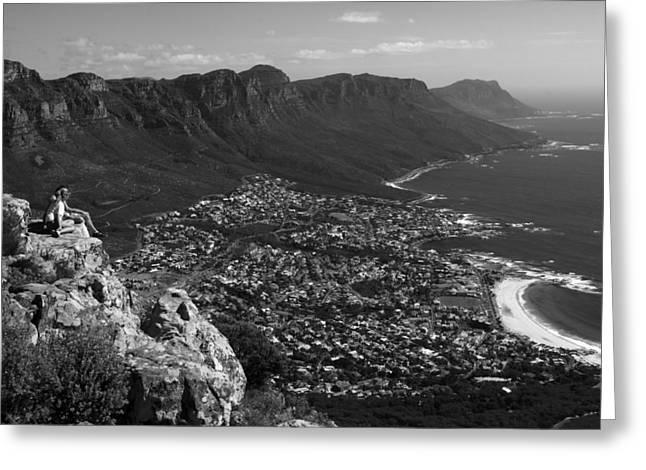 Camps Bay View Cape Town Greeting Card by Aidan Moran
