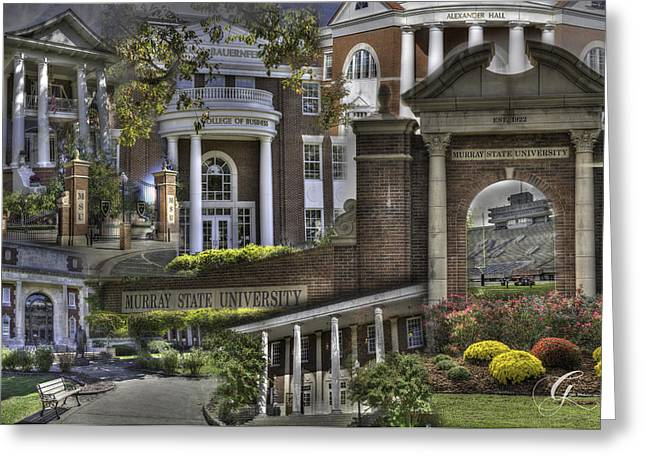 Murray Ky Greeting Cards - Campus Life Murray State University Greeting Card by Gina Munger