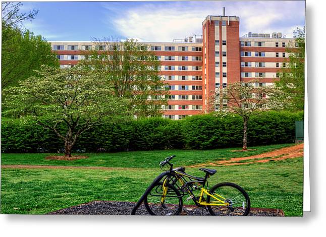 Wcu Greeting Cards - Campus Transportation Greeting Card by Greg Mimbs