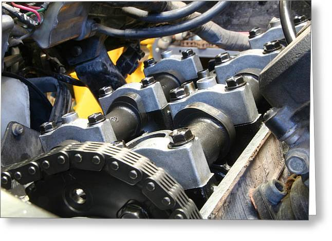 Camshaft Greeting Cards - Cams Greeting Card by David S Reynolds