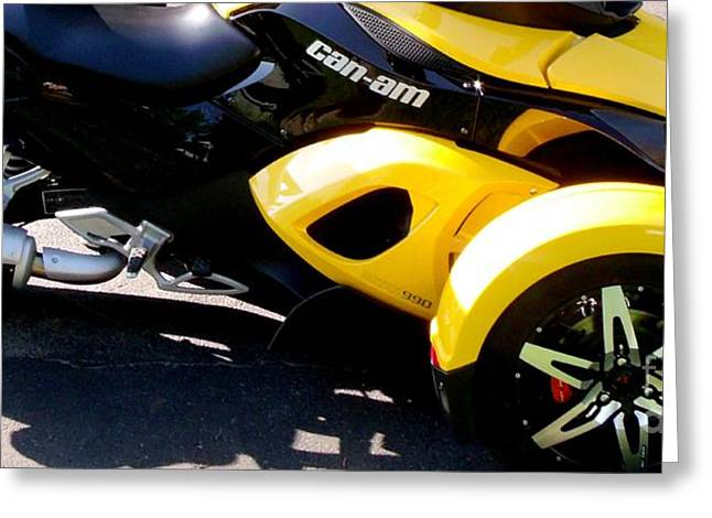 Recently Sold -  - Purchase Greeting Cards - Can-Am Roadster Spyder Motorcycle Greeting Card by Gail Matthews