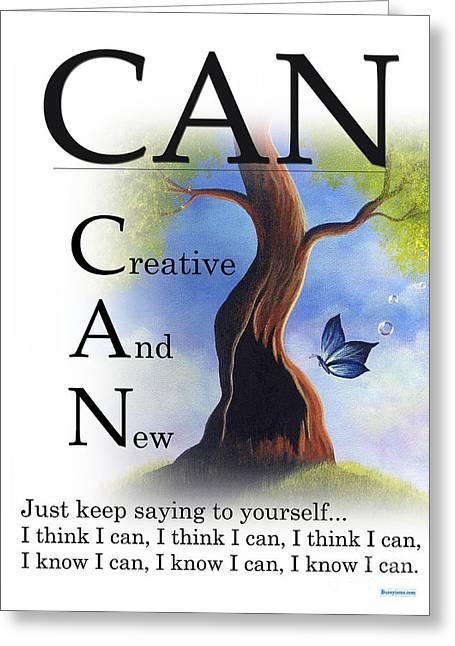 Top Selling Digital Art Greeting Cards - CAN Buseysm Original Buseyism Artwork Greeting Card by Buseyisms Inc Gary Busey