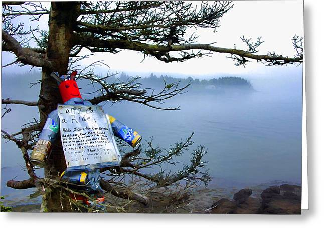 Campobello Island Greeting Cards - Can-Man Greeting Card by James Black