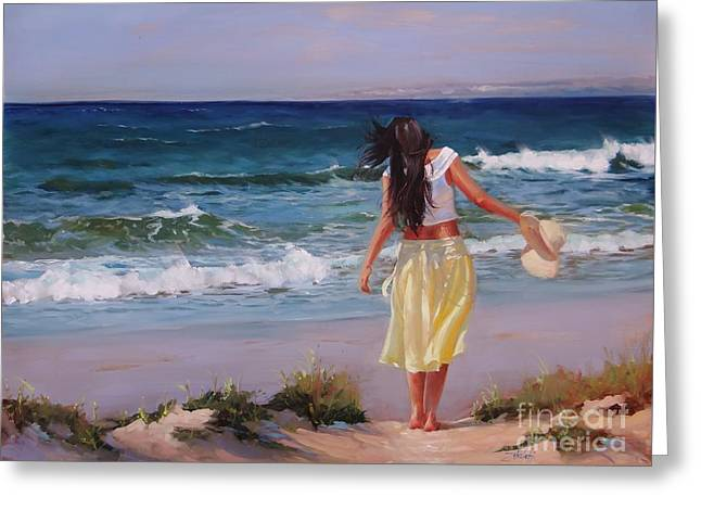 Long Skirt Greeting Cards - Can You Imagine Greeting Card by Laura Lee Zanghetti