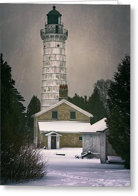 Cana Island Light II Greeting Card by Joan Carroll