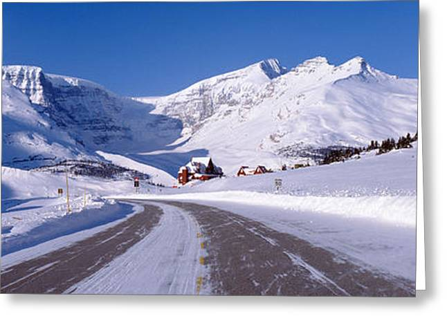 Snow Capped Greeting Cards - Canada, Alberta, Banff National Park Greeting Card by Panoramic Images