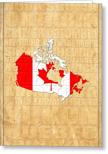 Map Of Canada Greeting Cards - Canada Greeting Card by Andrew Fare