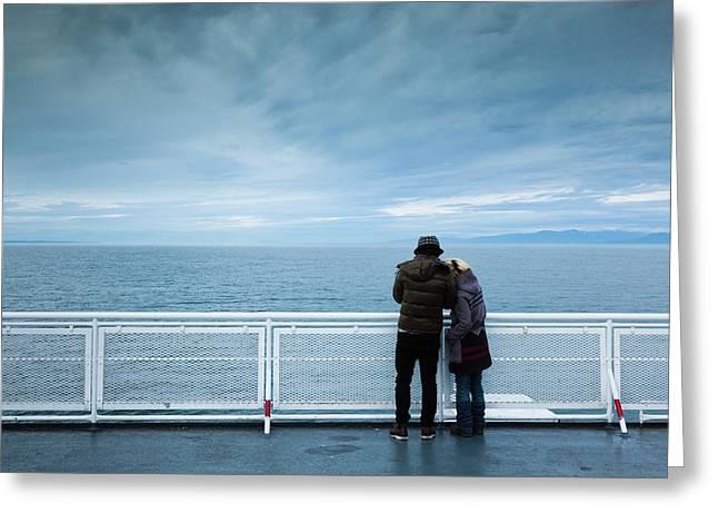 Canada, British Columbia, Strait Greeting Card by Walter Bibikow
