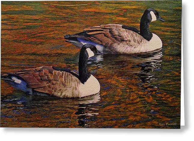Canada Geese Greeting Card by Ken Everett