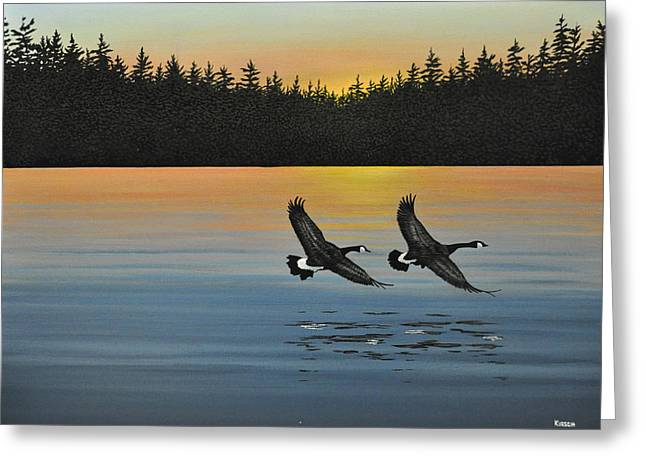 Best Sellers -  - Water Fowl Greeting Cards - Canada Geese Greeting Card by Kenneth M  Kirsch
