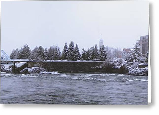 Flour Greeting Cards - CANADA ISLAND and SPOKANE RIVER Greeting Card by Daniel Hagerman