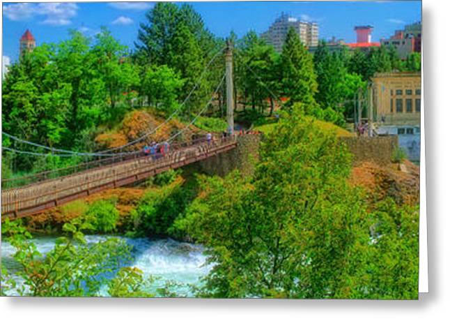 Spokane Greeting Cards - Canada Island Bridge Greeting Card by Dan Quam