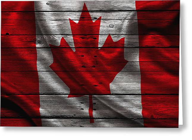 Continent Greeting Cards - Canada Greeting Card by Joe Hamilton