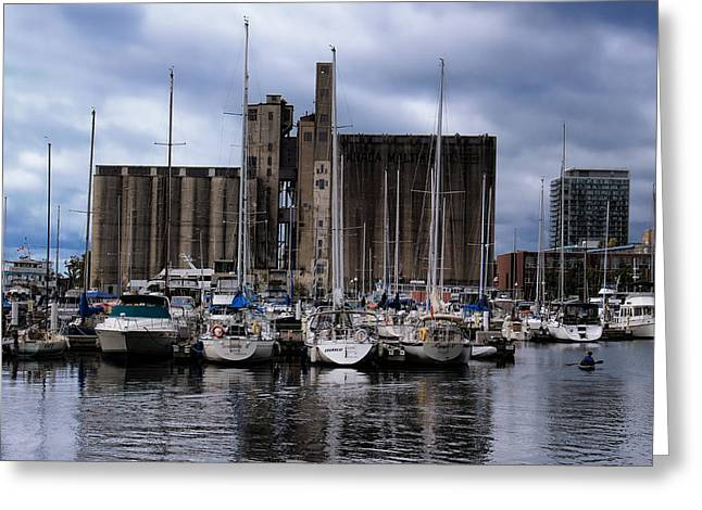 Maltings Greeting Cards - Canada Malting Silos Harbourfront Greeting Card by Nicky Jameson