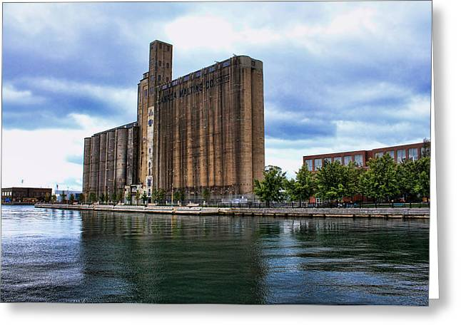 Maltings Greeting Cards - Canada Malting Silos Greeting Card by Nicky Jameson