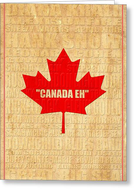 Joni Greeting Cards - Canada Music 2 Greeting Card by Andrew Fare