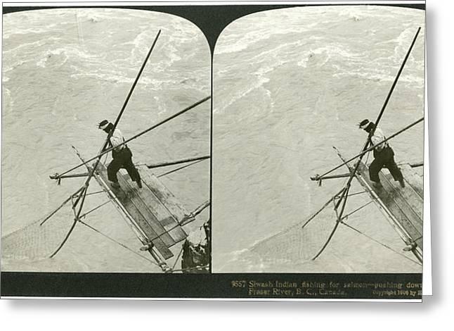 Canada Native Fisherman Greeting Card by Granger