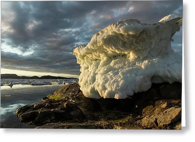 Canada, Nunavut, Territory, Melting Sea Greeting Card by Paul Souders