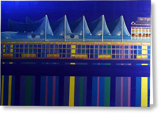 Vancouver Mixed Media Greeting Cards - Canada Place Greeting Card by Bob Craig