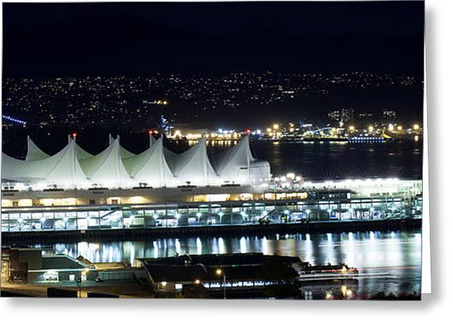 Cambria Greeting Cards - Canada Place By Night Greeting Card by Neil Webb