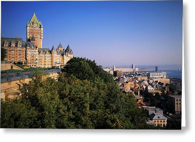 Canada, Quebec, Quebec City, Chateau Greeting Card by Walter Bibikow