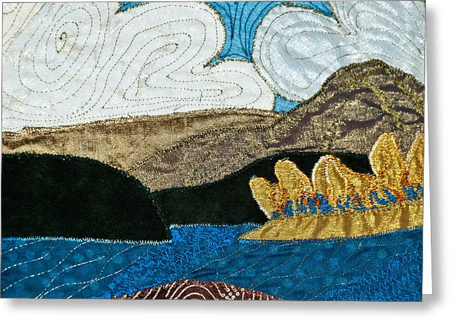 View Tapestries - Textiles Greeting Cards - Canada Greeting Card by Susan Macomson