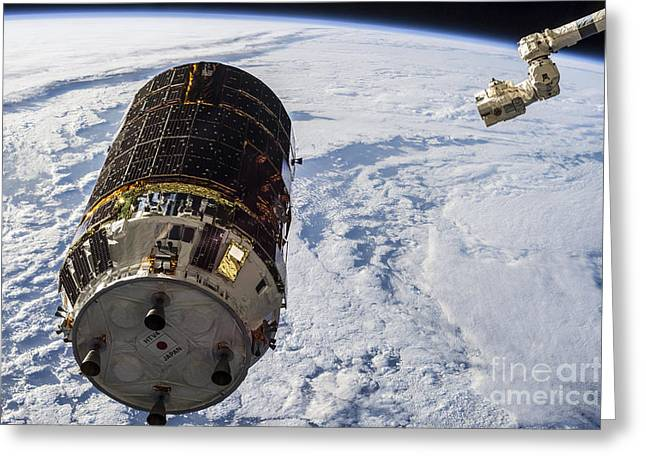 Automated Greeting Cards - Canadarm2 Moves Toward The Unpiloted Greeting Card by Stocktrek Images