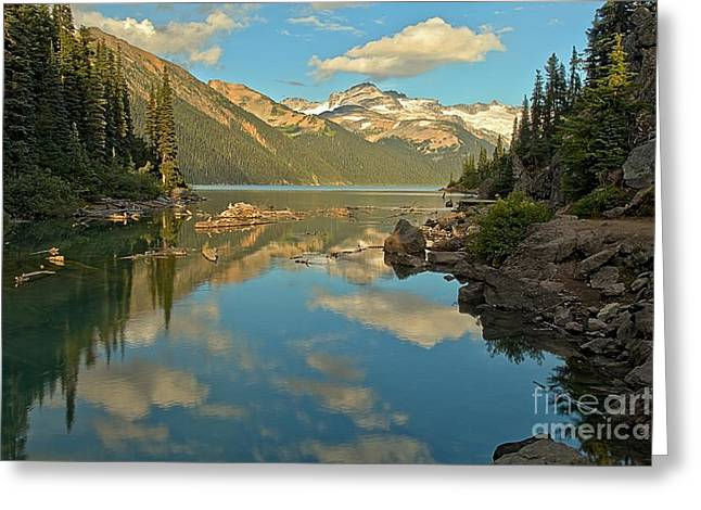 Canadian Coastal Mountain Reflections Greeting Card by Adam Jewell