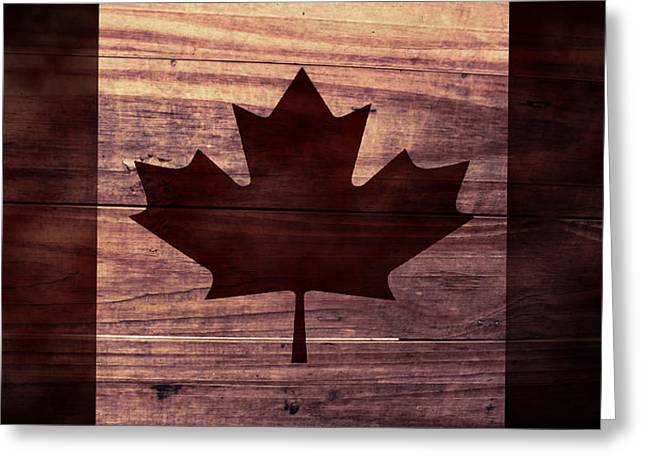 Canadian Greeting Cards - Canadian Flag I Greeting Card by April Moen