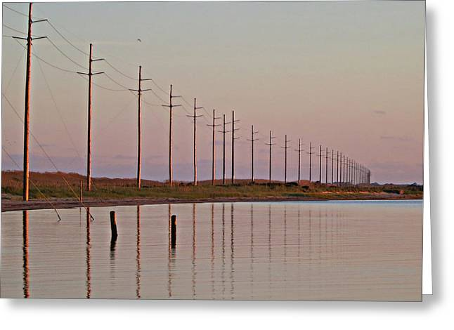 Canadian Hole Outer Banks at Sunset Greeting Card by Patricia Januszkiewicz