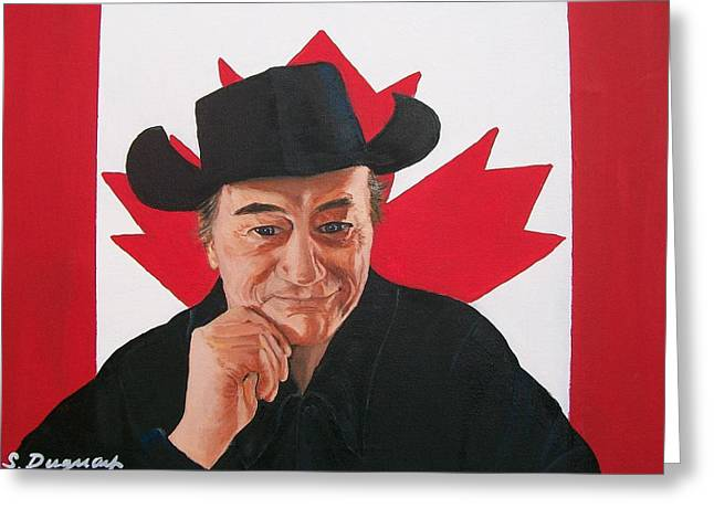 Player Greeting Cards - Canadian Icon Stompin Tom Conners  Greeting Card by Sharon Duguay