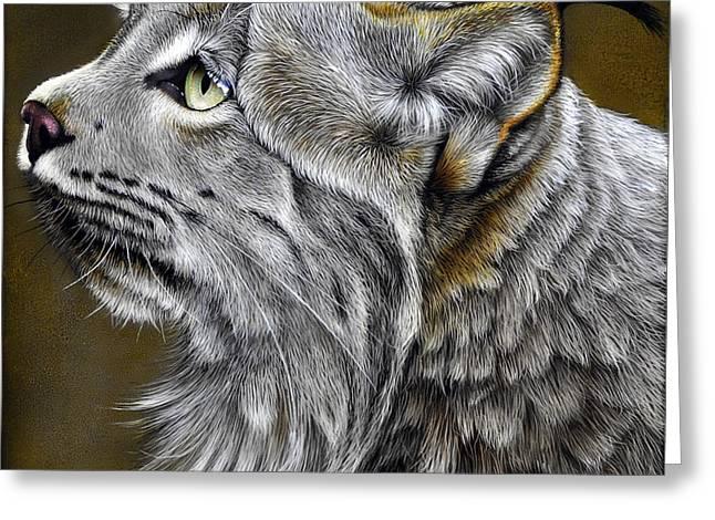 Canadian Lynx Greeting Card by Jurek Zamoyski