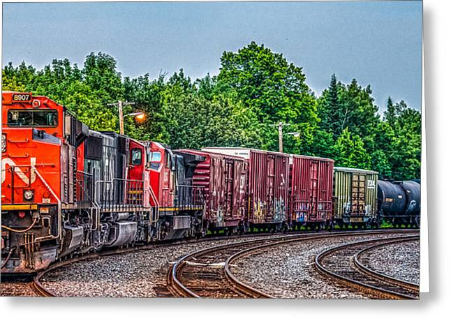 Freight Transportation Greeting Cards - Canadian National Greeting Card by Paul Freidlund