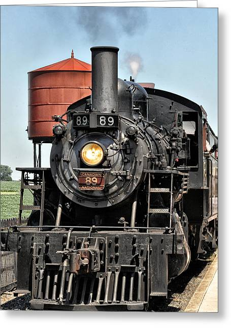 Strasburg Greeting Cards - Canadian National Railway 89 Greeting Card by Bill Cannon