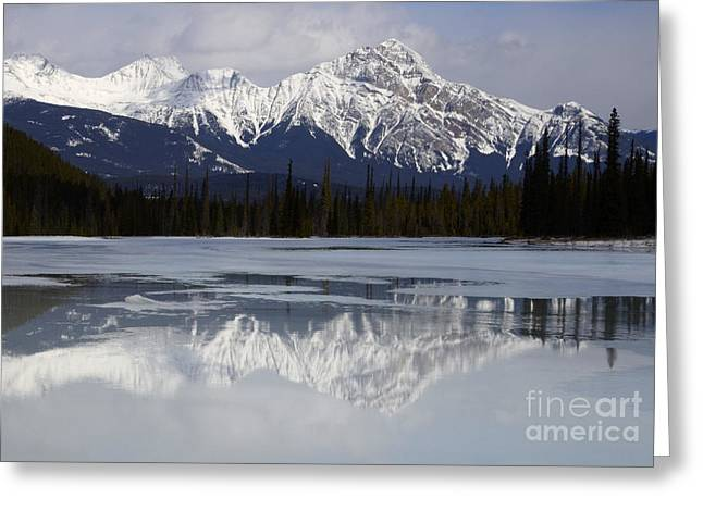 Pyramid Mountain Greeting Cards - Canadian Rockies 7 Greeting Card by Bob Christopher
