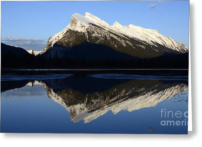 Canadian Rockies Mount Rundle 1 Greeting Card by Bob Christopher
