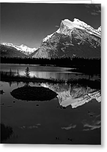 Black Lodge Greeting Cards - Canadian Rockies Greeting Card by Steve Harrington