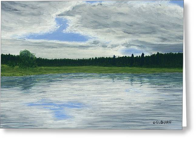 Canada Pastels Greeting Cards - Canadian Serenity Greeting Card by George Burr