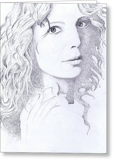 Mclachlan Greeting Cards - Canadian Songstress Greeting Card by Paul Smutylo