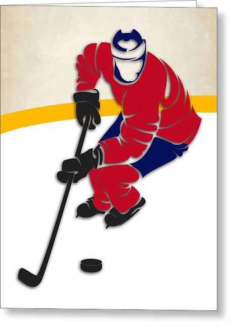 Montreal Canadiens Greeting Cards - Canadiens Hockey Rink Greeting Card by Joe Hamilton