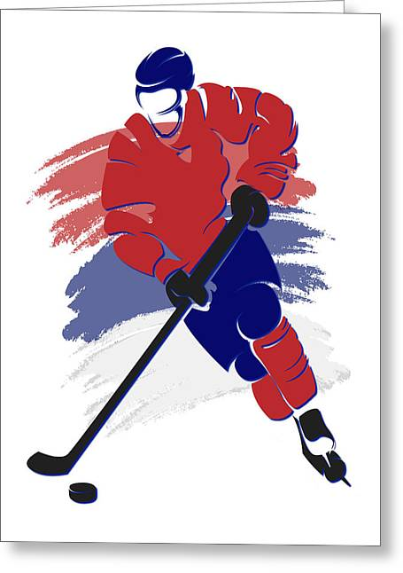 Montreal Canadiens Greeting Cards - Canadiens Shadow Player2 Greeting Card by Joe Hamilton